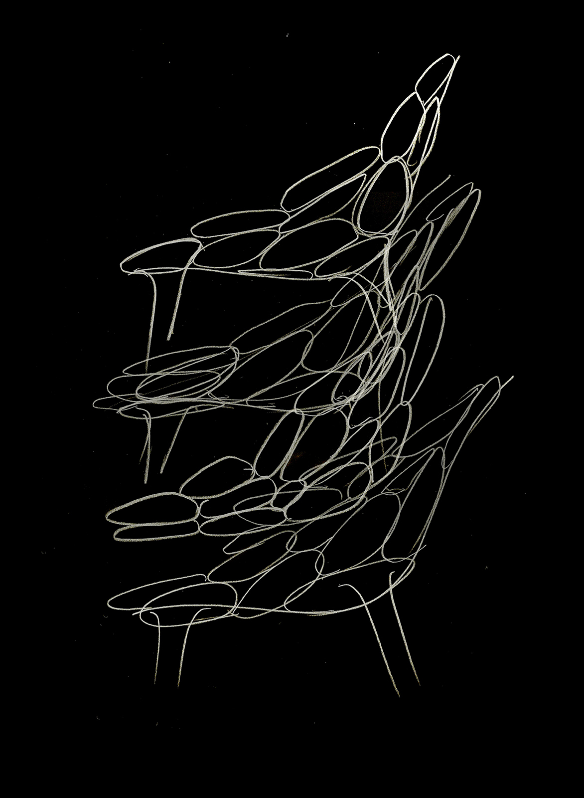 Claud-io chair by eugeni Quitllet with Kartell  sketch 2