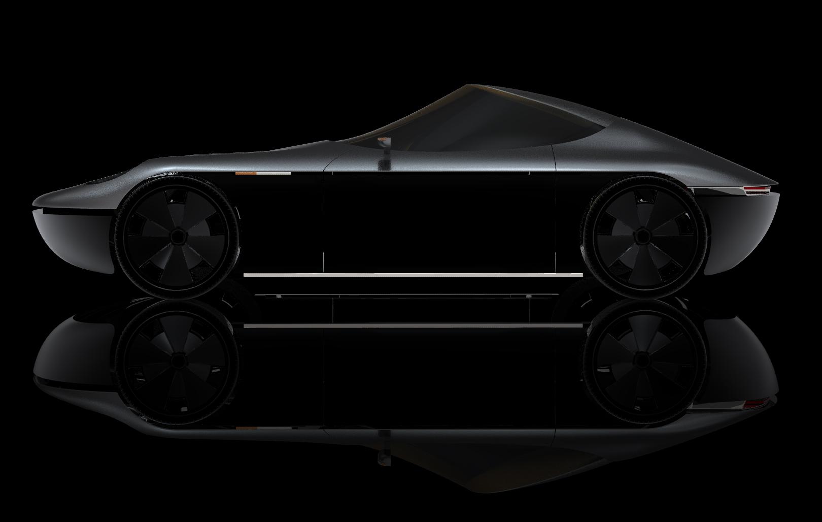 Porsche concept car gris