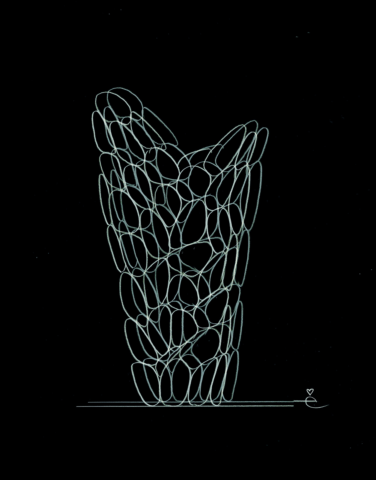 VASE ô, sketch by Eugeni Quitllet with Kartell 1